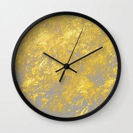 Gold flakes Wall Clock