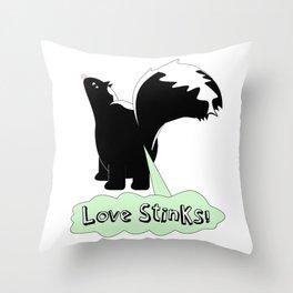 love stinks Throw Pillow