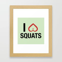 Squat Love Framed Art Print