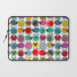Bright Sheep and Yarn Pattern Laptop Sleeve