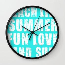 Beach Life- Turquoise Wall Clock