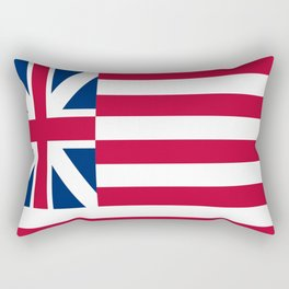 Historical flag of the USA : grand union flag Rectangular Pillow