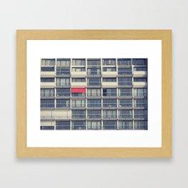Red Awning Framed Art Print