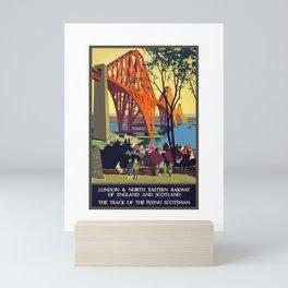 Vintage Travel Poster North Bridge Nature Painting London in England Mini Art Print