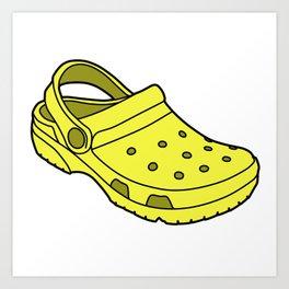 Crocs Art Print