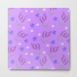 Spring Lavender Garden Metal Print