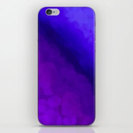 Deep Dark Abyss - Ultra Violet Ombre Abstract iPhone Skin