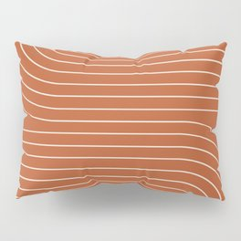 Minimal Line Curvature - Coral Red Pillow Sham