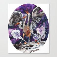 Three-headed Evil Bird God! Canvas Print