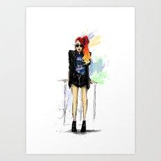 Flamboyante ! Art Print
