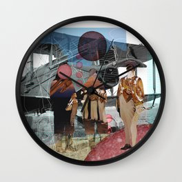 Flieger, gruess mir die Sonne... Collage Wall Clock