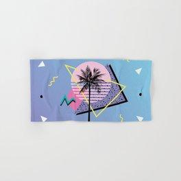 Memphis pattern 46 - 80s / 90s Retro / Palm Tree Hand & Bath Towel