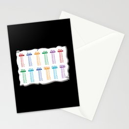 Multiplication Table School Stationery Cards