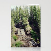 ashton irwin Stationery Cards featuring Irwin Falls by Teal Thomsen Photography