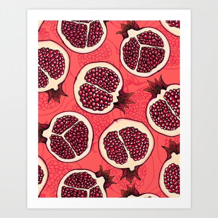 Pomegranate slices 2 Art Print