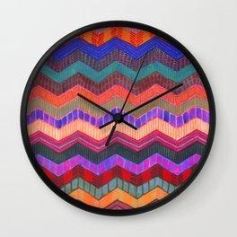 PATTERN {Chevron 003} Wall Clock