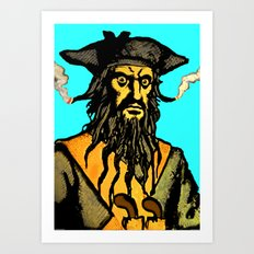 Gunslinger Teach Art Print