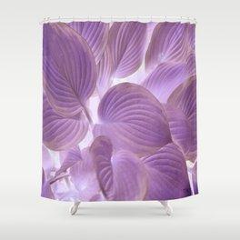 Lavender Purple Glowing Hostas | Nadia Bonello Shower Curtain