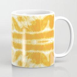Yellow Tie Dye Twos Coffee Mug