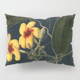 Night Yellow Flower Pillow Sham