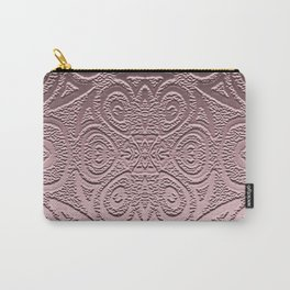 Embossed Rose Gold Geometry Carry-All Pouch
