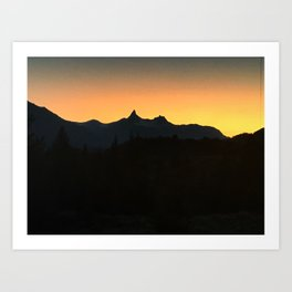 Sunset Over Pilot and Index Art Print