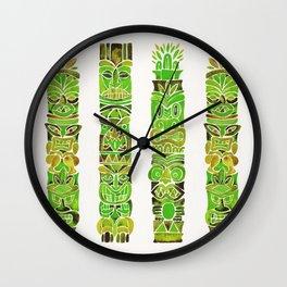 Tiki Totems – Green Wall Clock