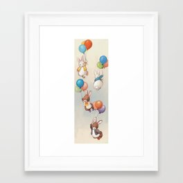 Flying Bunnies Framed Art Print