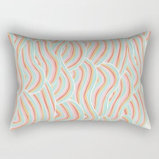 Summer Sea Waves Rectangular Pillow