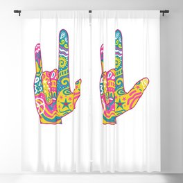 American Sign Language I Love You For Deaf Awareness Blackout Curtain