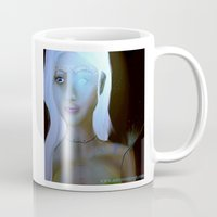 robot Mugs featuring Robot by Amy Bannister