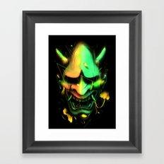 Hannya Mask Framed Art Print