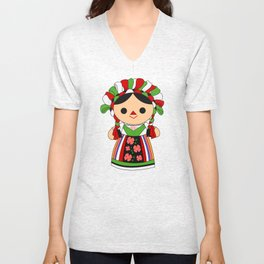 Maria 5 (Mexican Doll) Unisex V-Neck