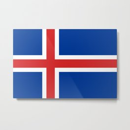 National flag of Iceland Metal Print