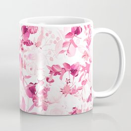 Elegant blush pink magenta watercolor flowers Coffee Mug