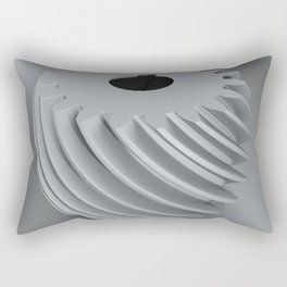 Convex helical gear with involute profile toothing Rectangular Pillow