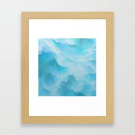 Clouds and mountains. Abstract. Framed Art Print
