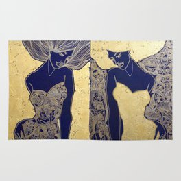 ANTICIPATION IN GOLD. DIPTYCH Rug