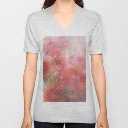 Watercolor Ranunculus Unisex V-Neck