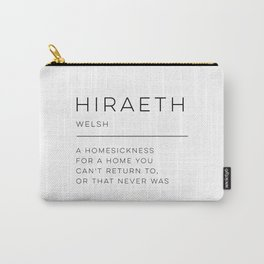 Hiraeth Definition Carry-All Pouch