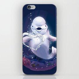 Beluga Whale Blow Kiss iPhone Skin