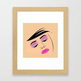 Portrait of beautiful woman with fresh make up Framed Art Print