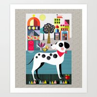 spoy dog Art Print