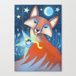 the prince&the fox Canvas Print
