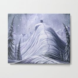 'Mountain Moments' Metal Print