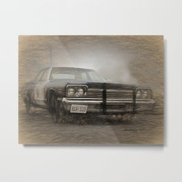 Bluesmobile Metal Print