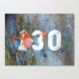 One Thirty Canvas Print