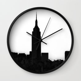 An Empire State Wall Clock