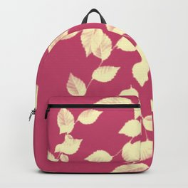 Falling Leaves in Gold Backpack