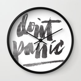 DON'T PANIC Wall Clock